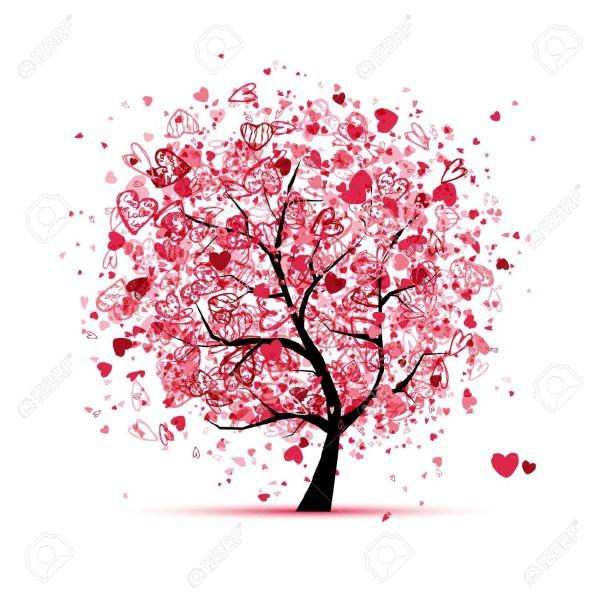 12016575-Albero-di-San-Valentino-con-il-cuore-per-la-progettazione-Archivio-Fotografico